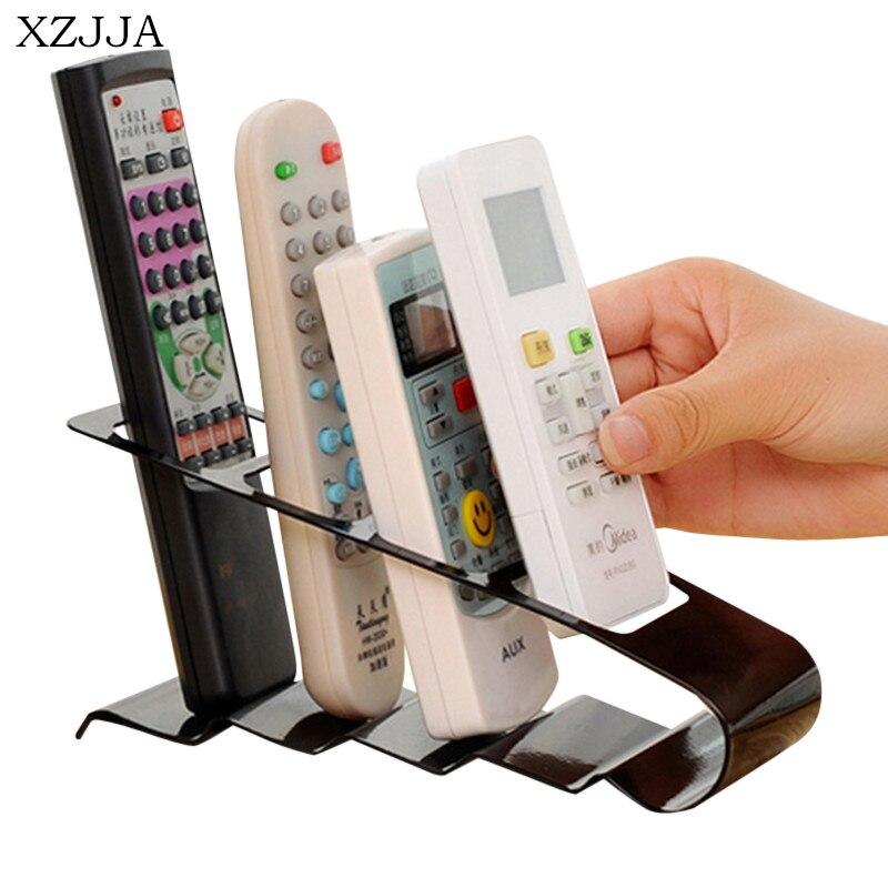 XZJJA Multifunction Metal Remote Storage Rack TV DVD VCR Step Remote Control Mobile Phone Holder Stand Storage Organiser Tools