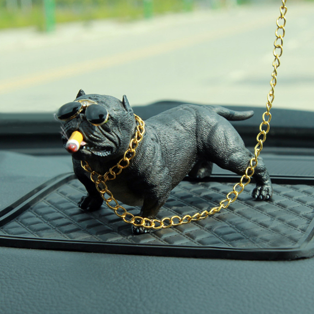 Car Dog Decoration Creative Personality High Grade Car Interior Fashion Simulation Dog Doll Interior Accessories Ornaments