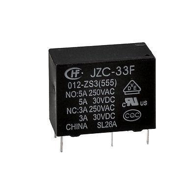 Against Under-voltage Tool 12V DC SPDT 1NO 1NC Power Relay JZC-33F limit switches plug in side plunger std 1nc 1no spdt