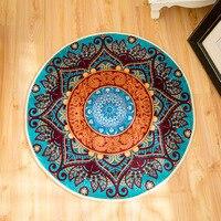 New Boho Floor Mat Cloakroom Rugs And Carpets Mandala Yoga Mat Hippie Mandala Non slip Round Carpet For Living Room
