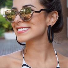 Fashion cat eye mirror womens sunglasses brand designer Vintage Cateye luxury crystal Sun glasses Female Gradient Glasses frames