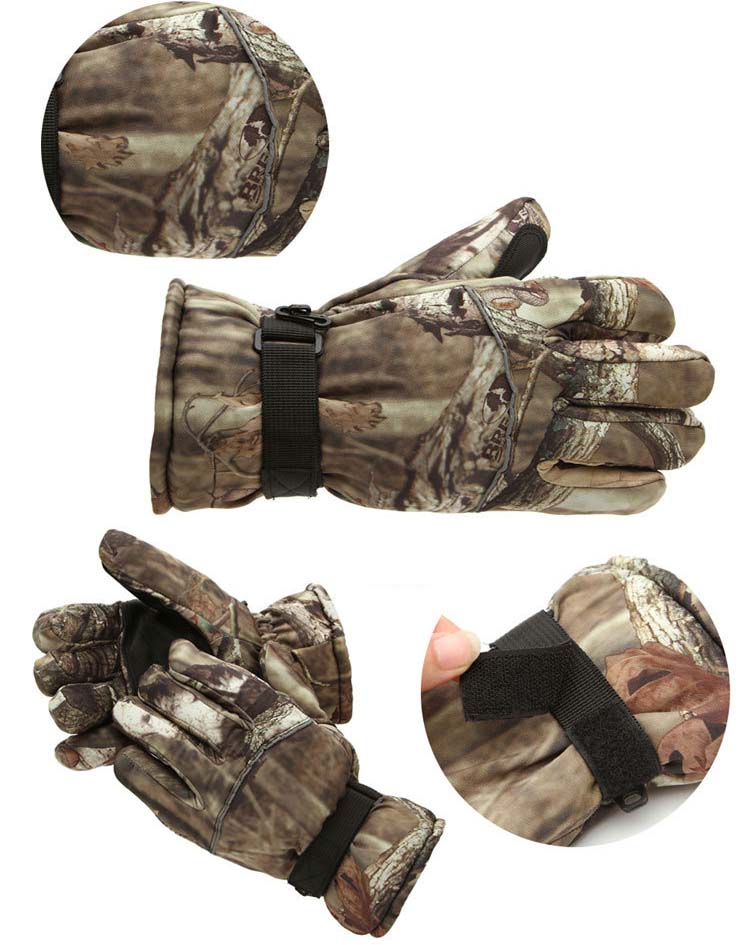GLV850 Bump man camouflage ski winter font b gloves b font thickening antiskid cold weather motorcycle