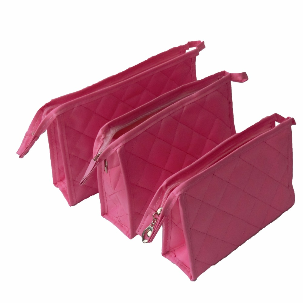10Pcs/Pack Durable Luxury Reticule Make-up Accessories Storage Bag Soft Touth With Zipper Cosmetic Pocket Tool For Beauty Women