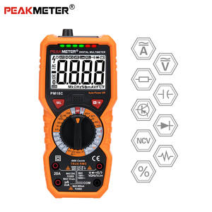 PEAKMETER PM18C Digital Multimeter with True RMS AC/DC Voltage Resistance Capacitance Frequency Temperature NCV Tester