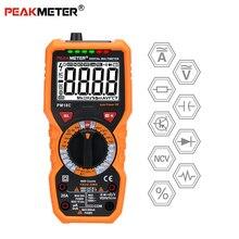 PEAKMETER PM18C цифровой мультиметр с True RMS AC/DC напряжение Сопротивление Емкость Частота Температура бесконтактный Тестер Напряжения