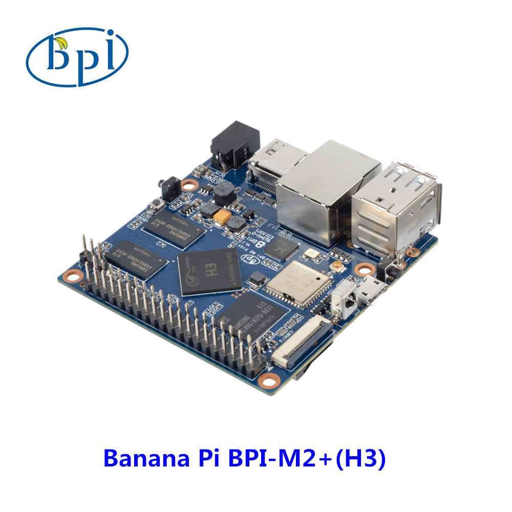 Allwinner H3 chip Quad-Core A7 <font><b>SoC</b></font> BPI-M2 Plus Banana Pi M2+ development <font><b>board</b></font> image