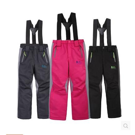 6a8f3108256b Brand Kids Ski Pants Winter Girls Boys Grey Red Black Waterproof ...