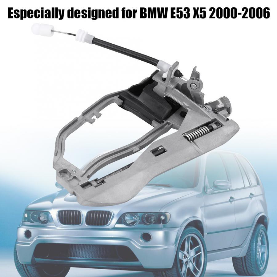 BMW E53 X5 00-06 OEM LEFT REAR DOOR OUTSIDE HANDLE CARRIER BRACKET