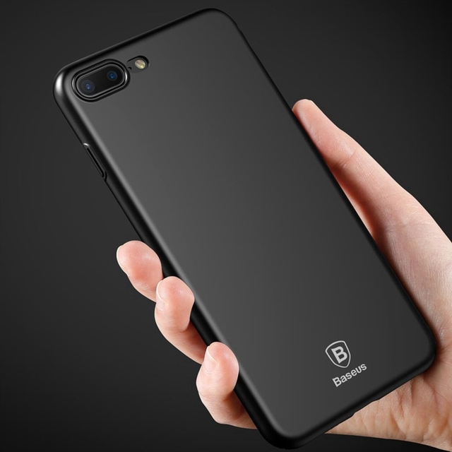 best service 799ac 12bf4 US $3.99 20% OFF|Baseus Luxury Phone Case For iPhone 7 Ultra Thin Slim PC  Back Cover For iPhone 6 6s 7 Plus Case Protective Shell Capa Fundas -in ...