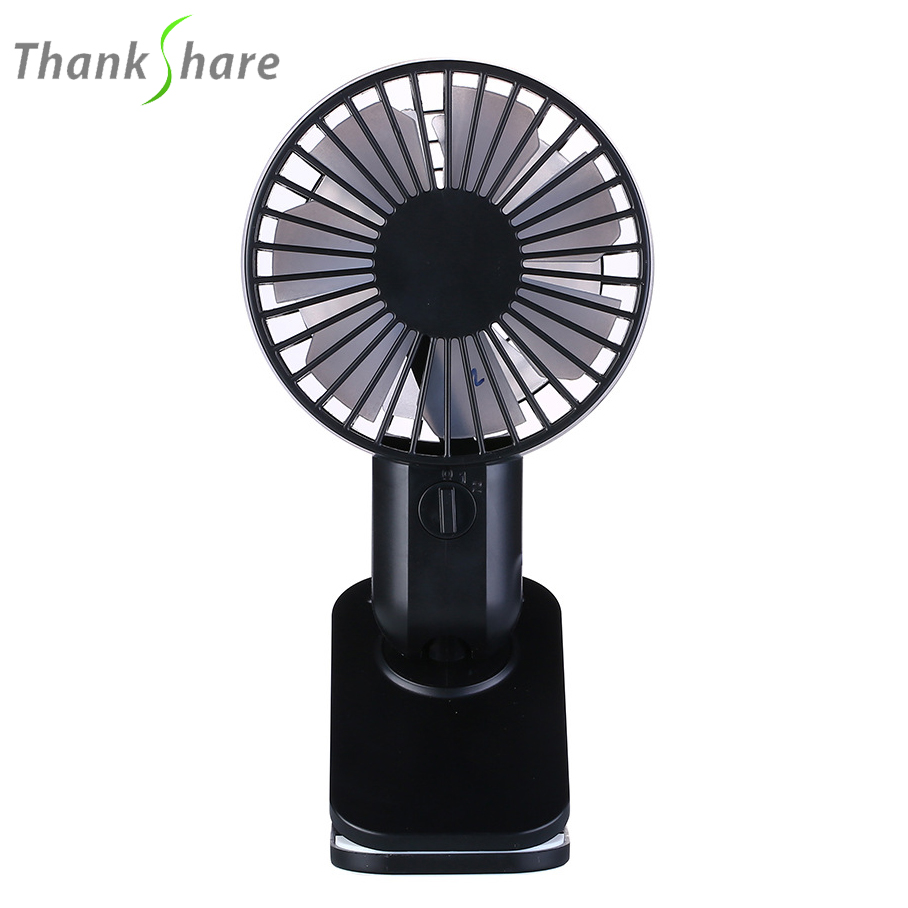 THANKSHRE New Rechargeable Pedestal Table Desk USB Fan Silent Mini Fan For Home Office Electric ABS Fans With Double Blades portable mini usb fan desk abs electric desktop computer table fan home office electric fans mini ventilator for office