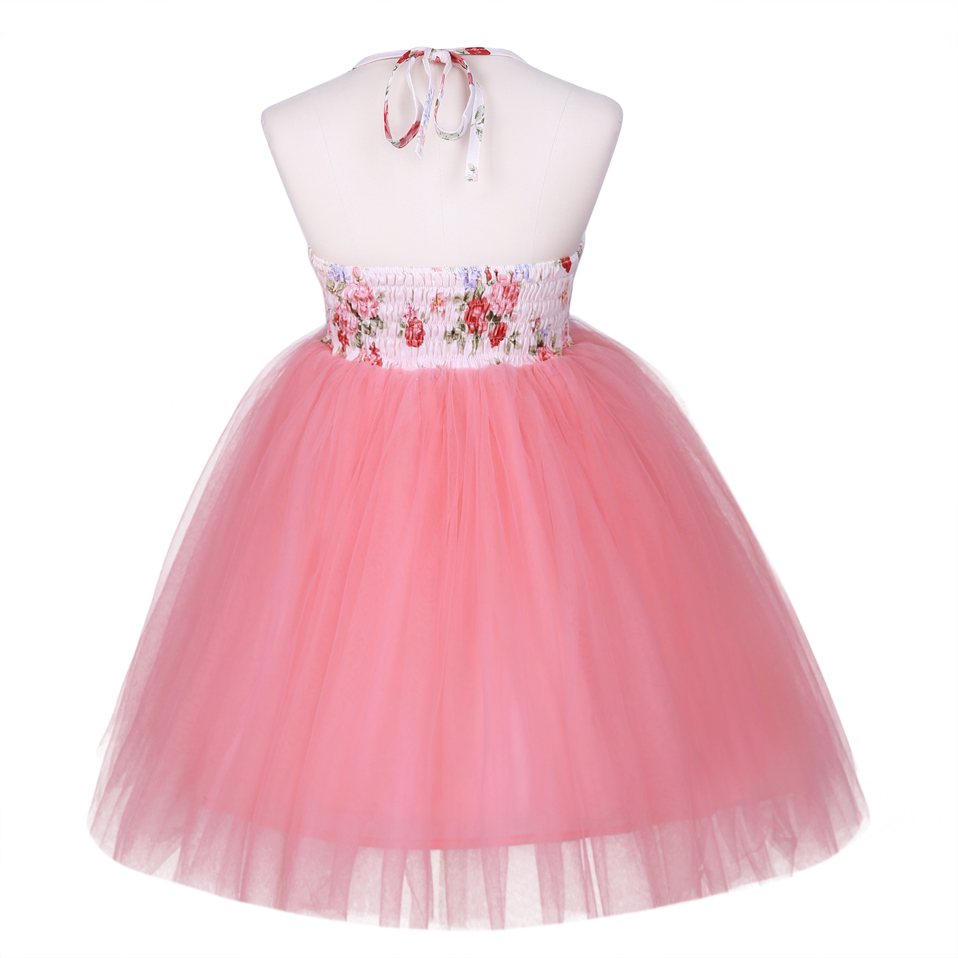 Pettigirl Girls Flower Dress Kids Summer Backless Fluffy Sleeveless With TUTU Dresses For Girl Children Clothing G-DMGD0010-A169