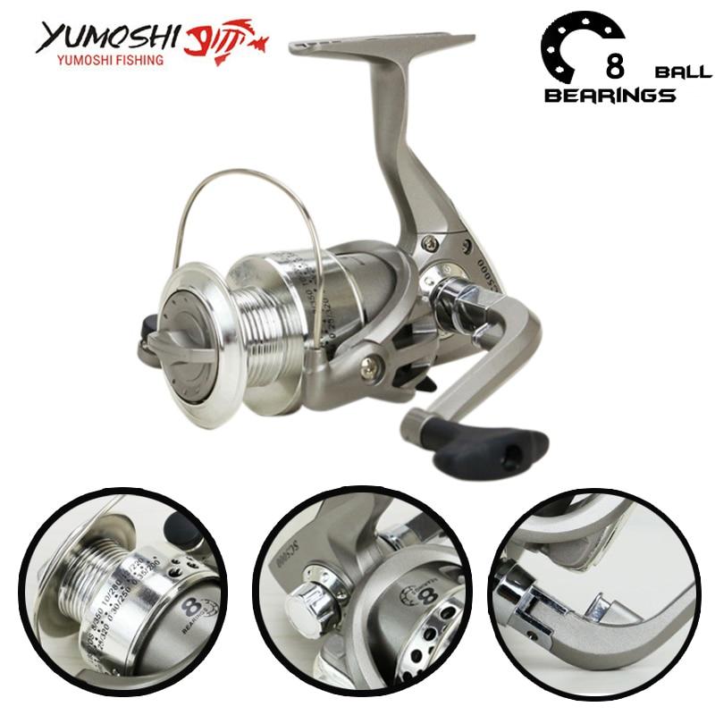 Yumoshi 8bb 1000 7000 fishing reels spinning reel 5 5 1 for Chinese fishing reels