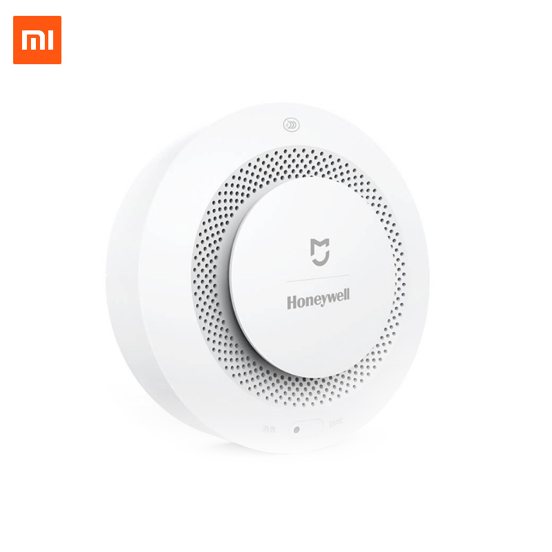 Xiaomi Mijia Smoke Detector Honeywell Fire Alarm Smart Home security and protection Wifi APP Remote Control with Gateway xiaomi fire alarm sensor wireless smoke detector home security alarm system smart control by mijia app
