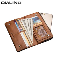 For Apple IPhone 5 6 6s 7 7plus Wallet Case Luxury Business Genuine Leather Cover Clutch