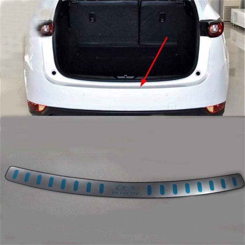 Inner Rear Bumper Protector Sill Trunk Tread 1pcs  For Mazda CX-9 2016-2019