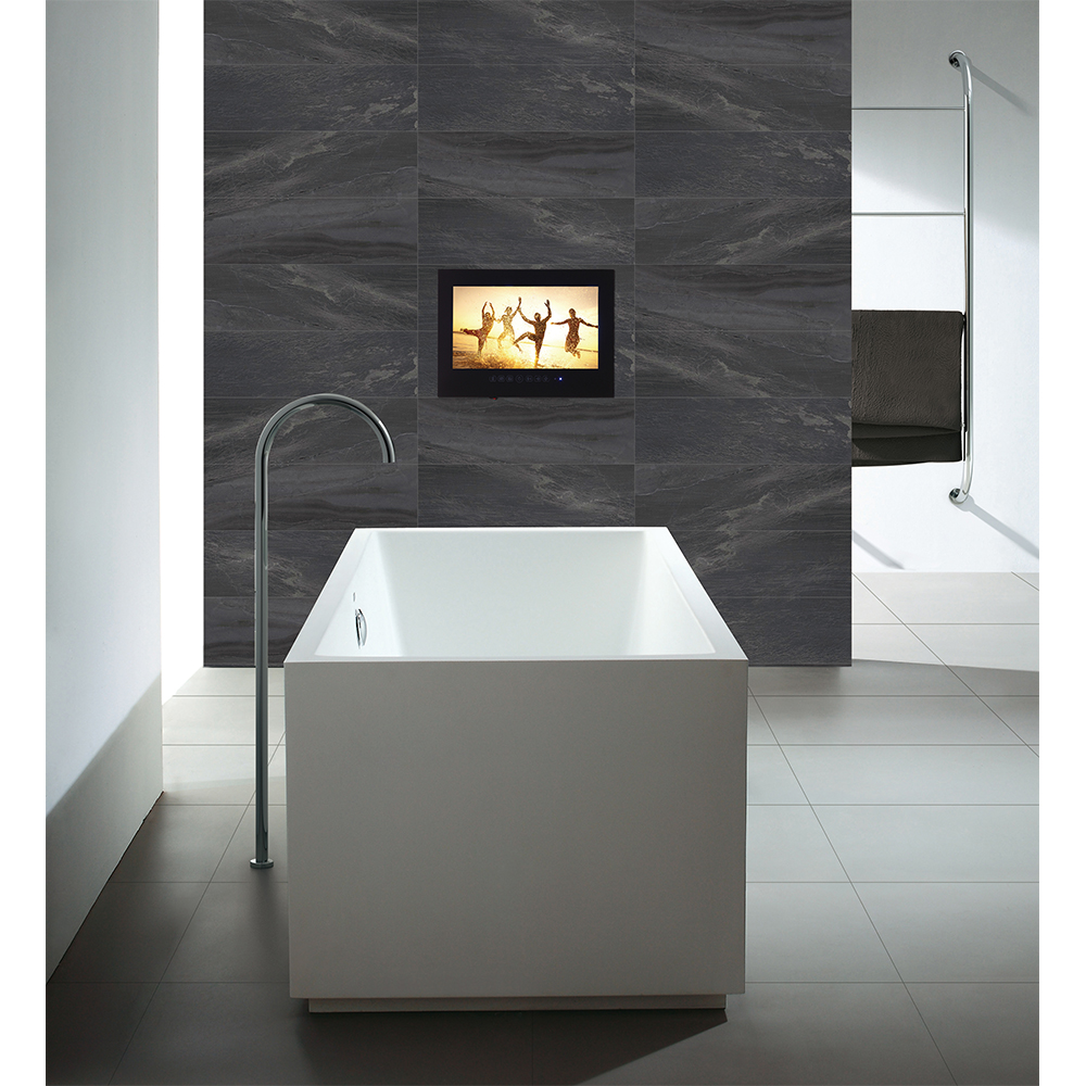 Souria 27 дюймов Full HD 1080 Водонепроницаемый Ванная комната светодио дный ТВ душ ТВ IP66 Водонепроницаемость Дисплей (черный/ белый)