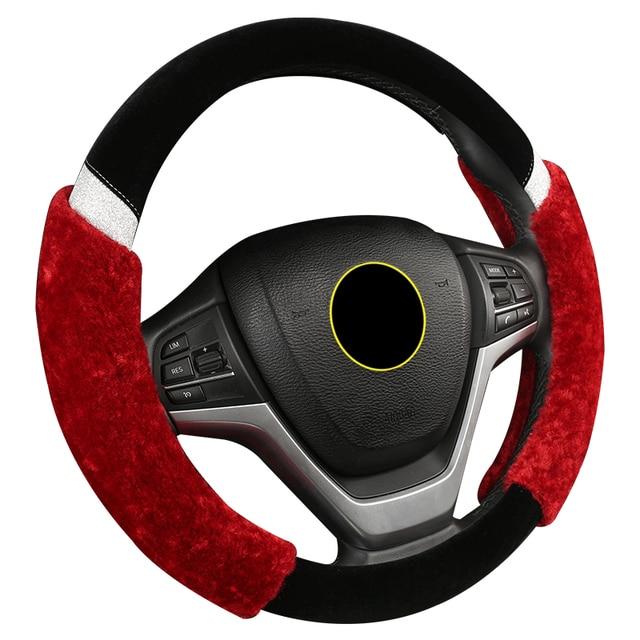 e43316f0ae20 Offer Fashion plush heated women car steering wheel cover fur 15 ...