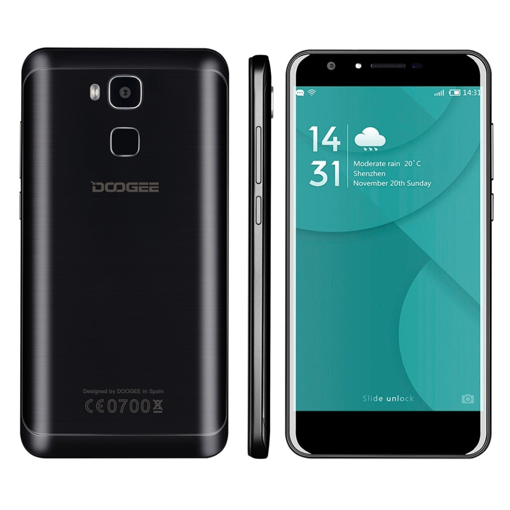 Original doogee y6 mt6750 octa core móvil 5.5 pulgadas android 6.0 2 GB RAM 16 G