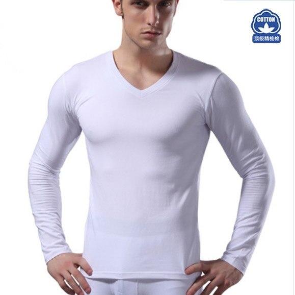 Aliexpress.com : Buy V neck Cotton Men Thermal Underwear Warm Top ...