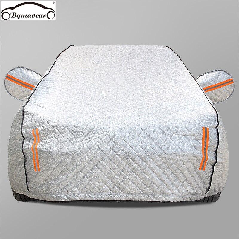 Bâche de voiture quatre saisons film en aluminium plus coton rembourré bâche de voiture hiver bâche de voiture grêle/résistant aux intempéries/soleil/neige adapté pour voiture Benz