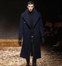 Осень и зима мужская тонкий одежда траншеи мужчина долго дизайн утолщение шерстяное пальто мужчины шерстяные кашемировые пальто(China (Mainland))