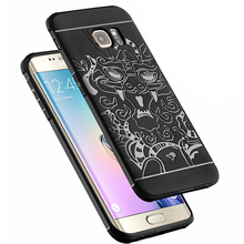 Slim Drop Resistance Armor Anti Hit Soft Silicone Case For Samsung S6 Edge G9250 3D Curved Dragon Rubber Cover Fundas Capa Coque