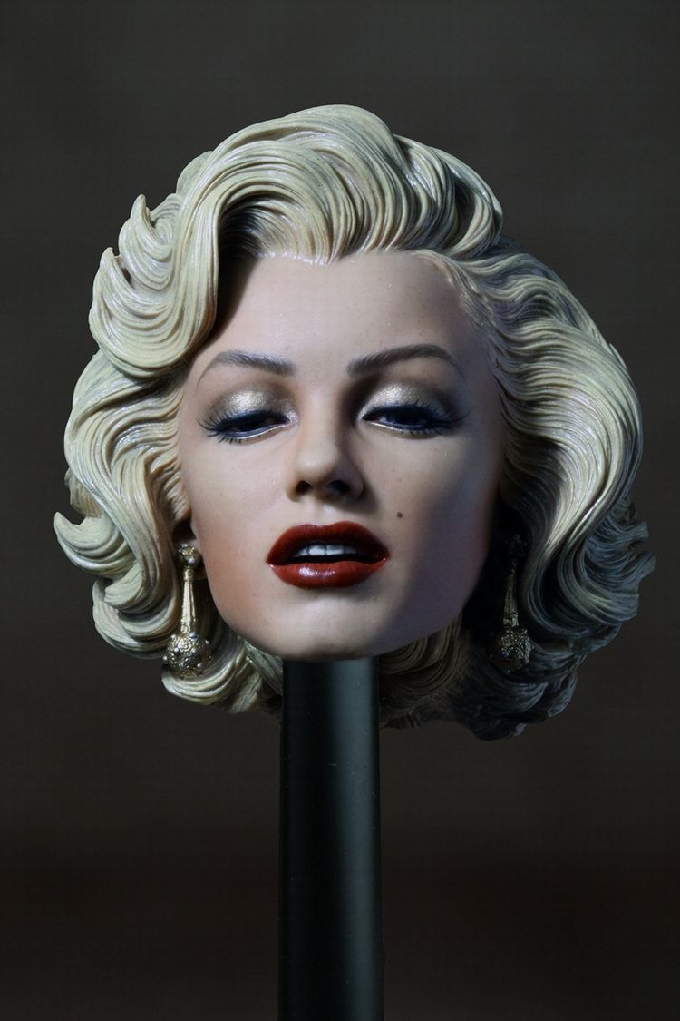 ФОТО 1:6 Scale Female Head Marilyn Monroe Head Sculpt Gentlemen Prefer Female Beauty Headplay for jiaodoll HT Body Figures