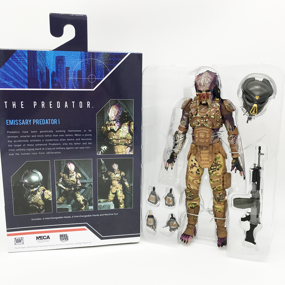 18cm NECA The Emissary Predator Action Figures Collectible Model Toys
