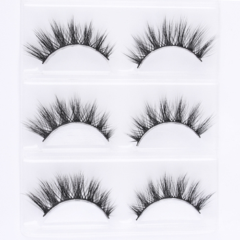 3 Pairs 3D Mink Hair False Eyelashes Long Cross Wispy Natural Eye Lashes Soft Full Strip Lashes Eyelash Extension Beauty Makeup False Eyelashes