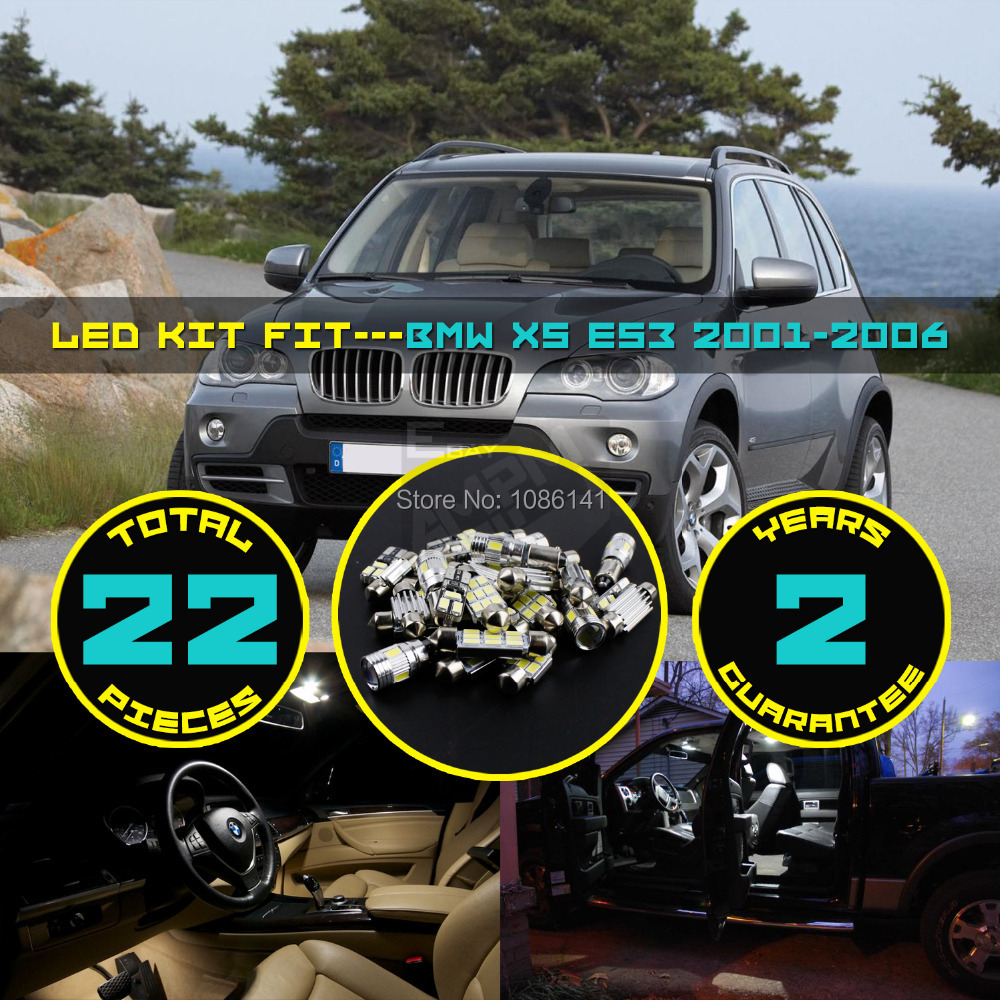 22x 5630 5730 Led Canbus Dome Map License Plate Mirror