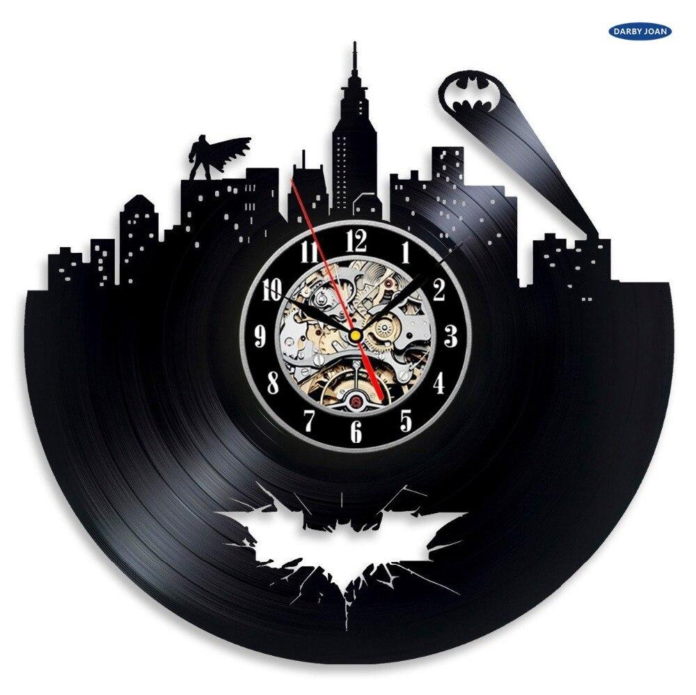 horloge murale batman arkham city logo meilleure horloge murale decorer votre maison avec moderne grand super heros art dans horloges murales de maison
