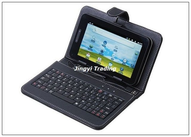 "USB Keyboard & Leather Cover Case Bag For 7"" Tablet PC"
