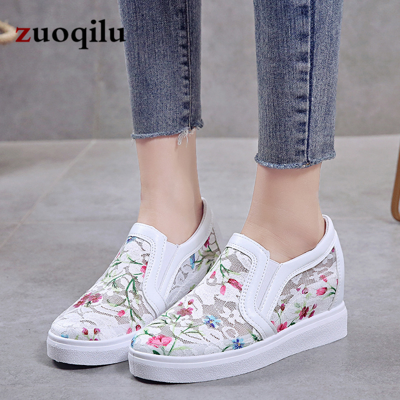 2019 spring and autumn women casual shoes mesh ladies shoes sneakers increase wedges platform shoes woman2019 spring and autumn women casual shoes mesh ladies shoes sneakers increase wedges platform shoes woman