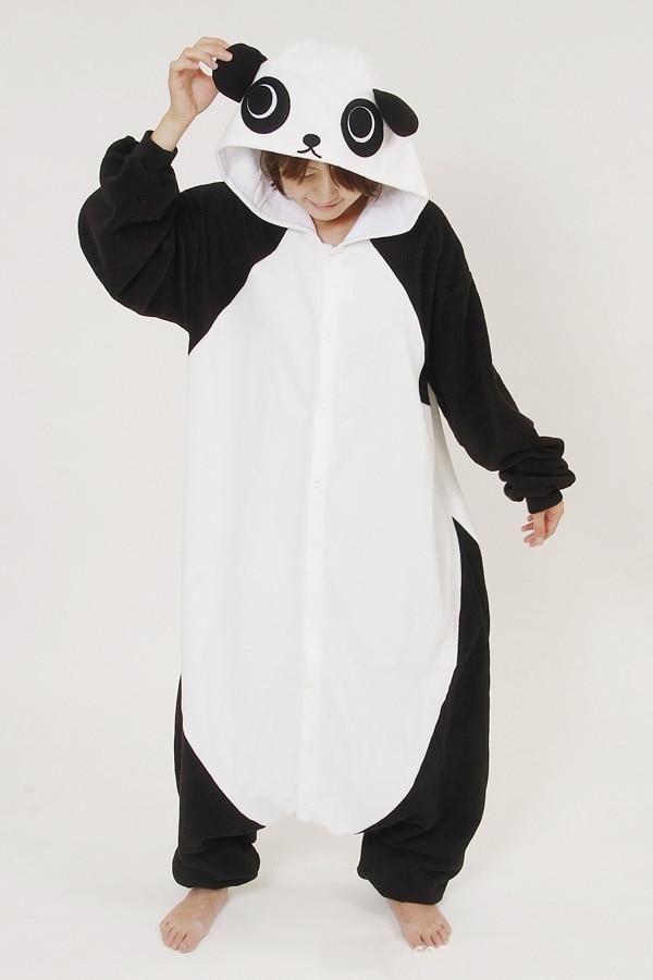 Free Shipping Pyjamas Women Men Kungfu Panda Onesies For Adult Sleep Lounge Pajamas Cartoon Fleece Sleepwear Animal Pajamas