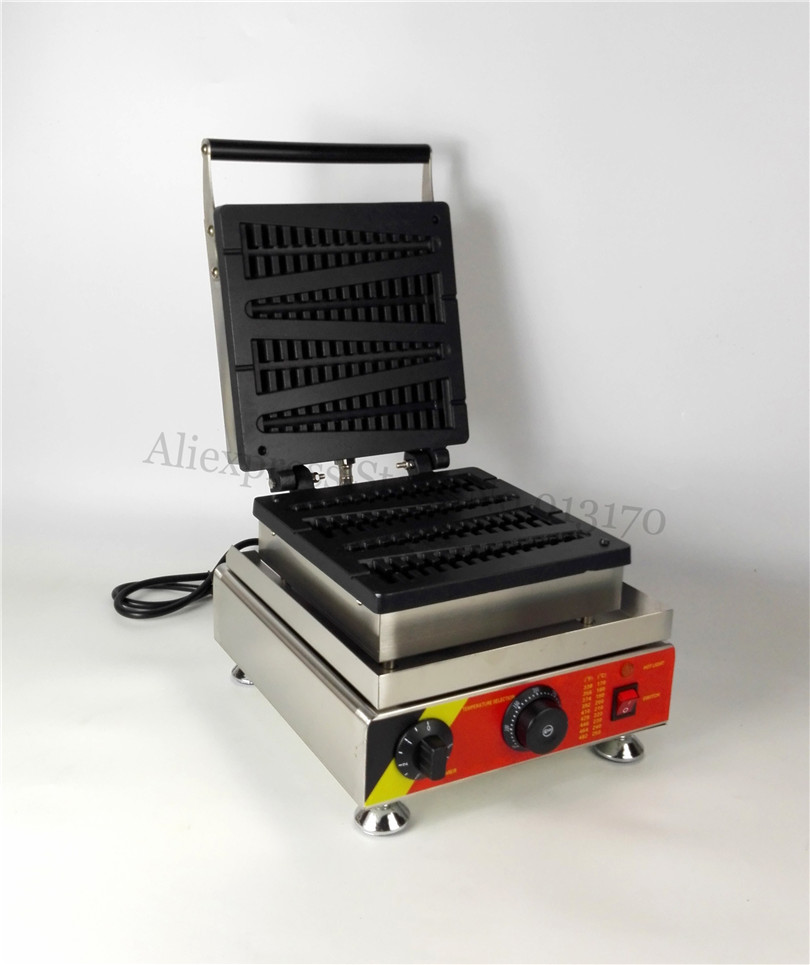 Tower Shape Lolly Waffle Machine Commercial Pine-tree Shape Waffle Maker with Timer and Temperature Controller