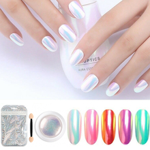New 1 Box Mirror Nail Glitter Powder Neon Aurora Mermaid Chrome Pigment Dust Manicure DIY Art Decoration