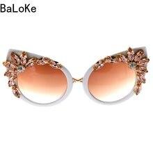 Baroque Style Mode Femmes Cat Eye Lunettes De Soleil De Cristal Décoration Rétro  lunettes de Soleil d474a86463d6