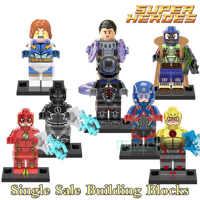 Model Building Humor 50pcs\lot Building Blocks Super Heroes The Atom Lighting Lad Arkham Knight Reverse Flash The Flash Bricks Children Toys X0119 Blocks