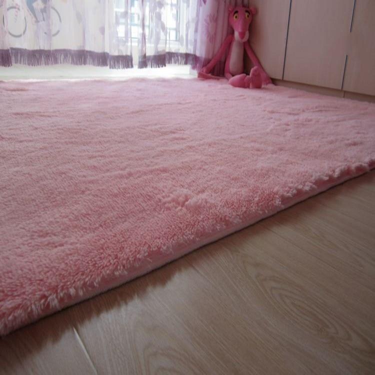 Shag tapetes rosa para ch o da sala tapete de cama tapete antiderrapante tapetes macios gua - Rosa weiay gestreifte tapete ...