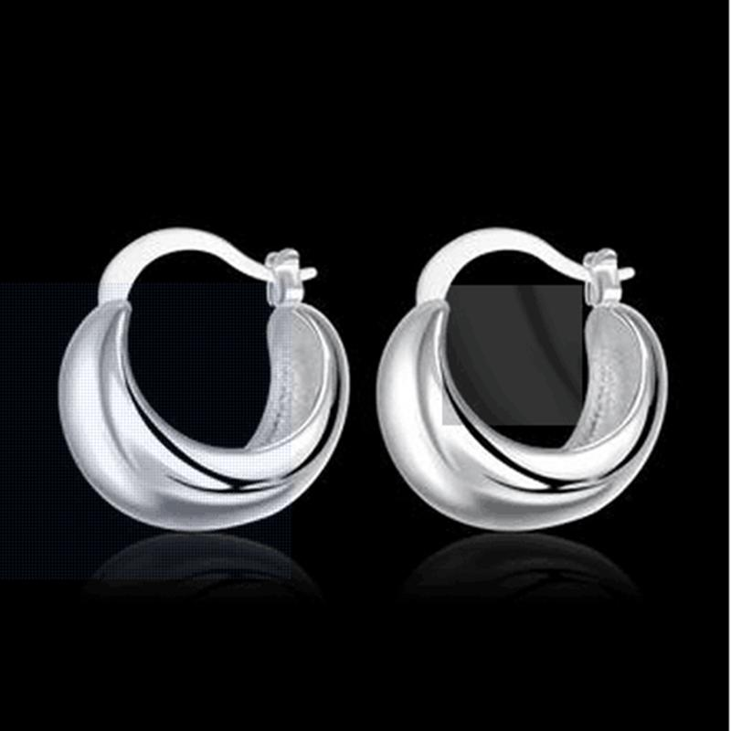 Fashion 925 Silver earrings personality silver earrings a symbolic gift wedding travel essential36