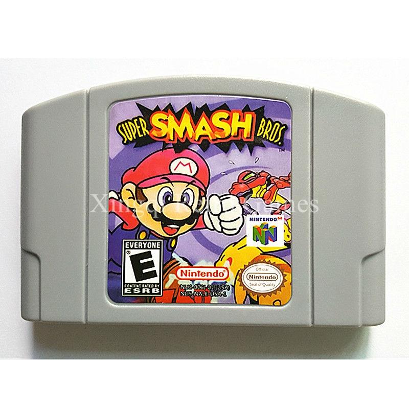 Nintendo 64 Game Super Smash Bros. Video Game Cartridge Console Card English Language US Version