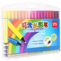 DL 70660 trigonometric rod water color pen 48 color false swallow prevent asphyxiation can wash multi  trigonometric rod