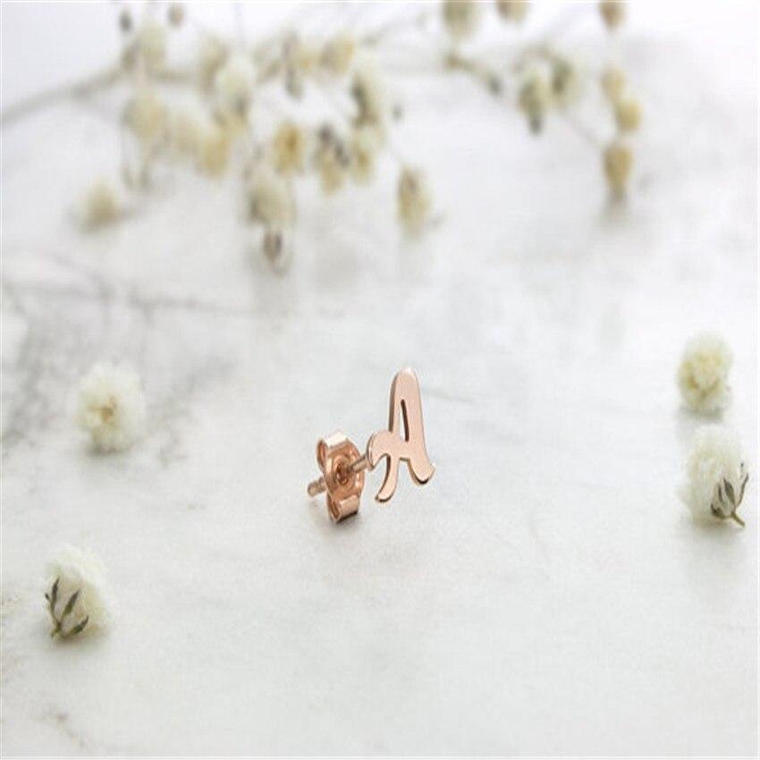 A B C D E F G H I J K L M N O P Q R S T U V W X Y Z Personalized Letter Custom Earrings Stainless Steel Jewelry Boho Women BFF