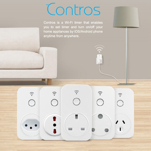 Broadlink SP3 SP2 SP3S Contros Wireless WiFi Timer Socket Remote Power Plug IOS Android Remote Control Smart Home Automation