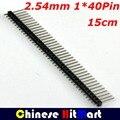 Atacado 100 pçs/lote 2.54mm 40Pin Única Linha masculina Cabeçalho Conector de Strip para Arduino Prototype Escudo DIY 15 cm # J007-1
