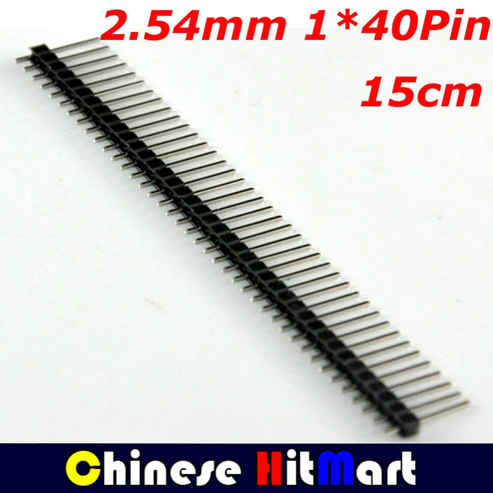 Wholesale 100 Pcs/lot  2.54mm 40Pin Single Row  Male Header Connector Strip For Arduino Prototype Shield DIY 15cm #J007-1