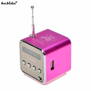 Image 1 - Kebidu נייד מיני סטריאו סופר בס רמקול דיבורית מגבר סאב רדיו FM USB מיקרו SD TF כרטיס MP3 נגן TD V26