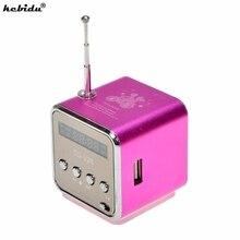 Kebidu Портативный мини стерео супер бас Динамик усилитель громкой связи сабвуферный динамик fm радио USB Micro SD TF карты MP3 плеер TD V26