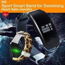 Плавание монитор спортивные Smart Band H5 монитор сердечного ритма фитнес-трекер Smart Браслет Bluetooth Водонепроницаемый IP67 для IOS Android