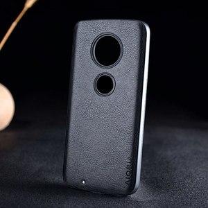 Image 2 - Case for Motorola Moto G7 G6 G5S Plus funda luxury Leather Vintage litchi pattern capa cover for moto g7 g6 g5s plus case coque
